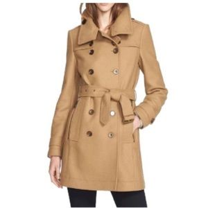 BURBERRY LONDON DAYLESMORE WOOL BLEND TRENCH COAT
